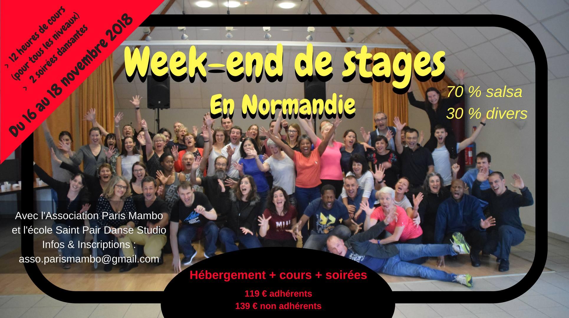 Week End De Stages Salsa Et Autres Danses Latines A Honfleur Du 16